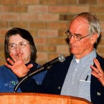 Photos of Mark and Louise Zwick Speaking About Their Book at Mt. Union College